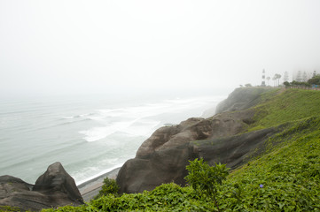 Foggy Coastline - Lima