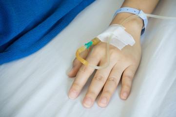 Patient's hand.