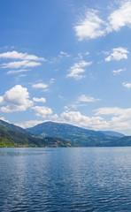 Lake Millstatt View To Mt. Mirnock In Spring