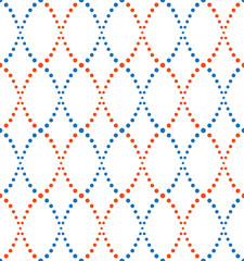 pattern of dots, blue and orange