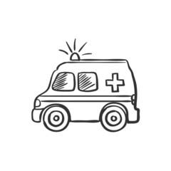 ambulance doodle drawing