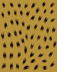 Jaguar and leopard skin texture, vector