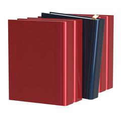 Red books row one black selected choosing leadership
