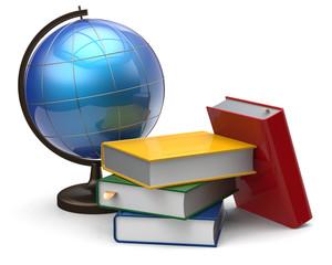 Globe books blank global geography international knowledge
