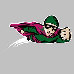 Superhero in his uniform