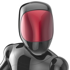 Black robot cyborg bot android futuristic artificial character