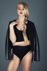 woman beauty. Glamour blond woman with professional make up