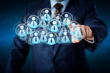 Manager Selecting Human Resources In The Cloud