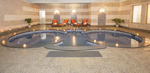 Large bath in a health spa