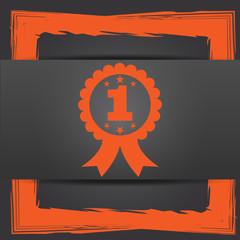 First prize ribbon icon