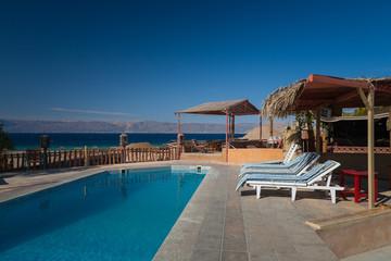 Pool iat the hotel. Aqaba. Jordan