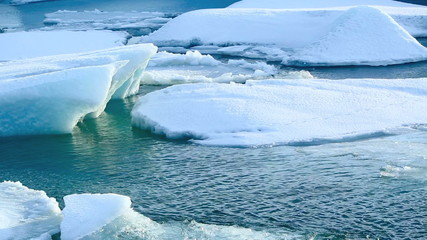 Melting ice floes