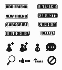 Set of social network icon