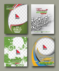 Set of Sport Flyer, Magazine Cover & Poster Template