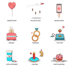 fun and cute love illustration collection
