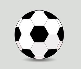 soccer ball on white background eps10 illustration