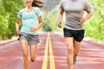 Health and fitness running - runners jogging