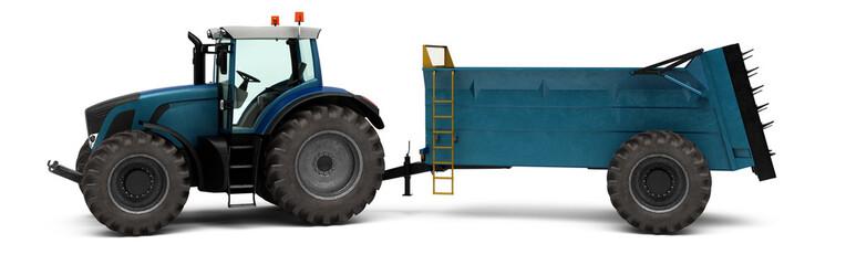 Traktor mit einem Dosierwagen