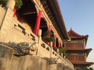 Architecture and sculture of Chinese temple