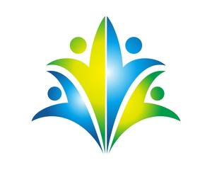 abstract people care logo