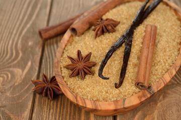 Brown sugar, anise, vanilla and cinnamon