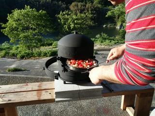 窯焼きピザ作り