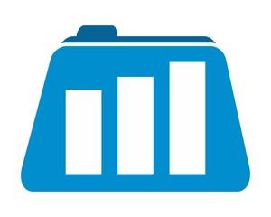 accounting financial folder logo