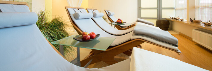 Beauty resort with resting space