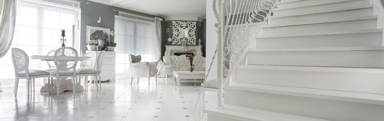 Interior with marble stairs