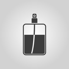The perfume icon. Cologne symbol. Flat
