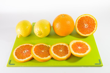 Slices Of Oranges And Lemon