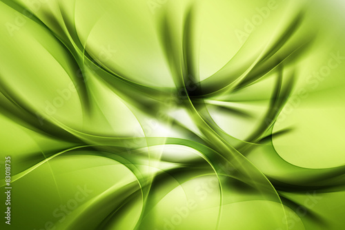 Panel Szklany Green Abstract Design