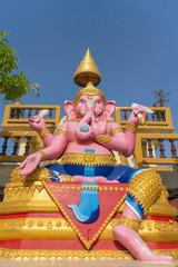 Statue of Hindu God Ganesha sitting under sunlight