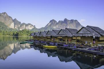 Raft house of mountain