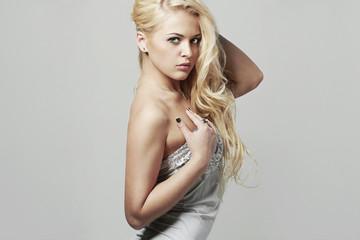 Sensitive Beautiful blond young woman.beauty sexy girl