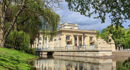 Royal Lazienki Park  in Warsaw - Palace on the Water