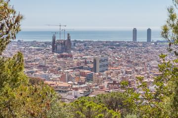 Vue de Barcelone depuis le Parc Güell