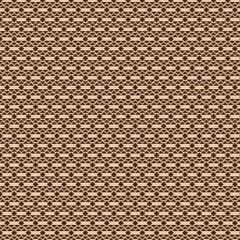 Ornament of brown geometric shapes on a beige background.