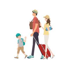 家族 旅行 イラスト