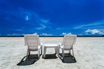 Double chair on the beach