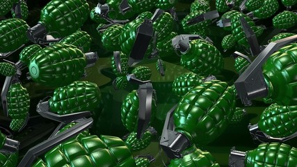 Abstract Hand grenade in green color