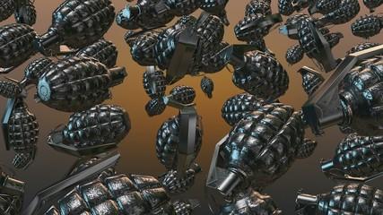 Abstract Hand grenade in black color