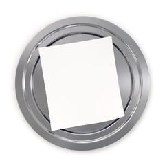 piatto argento con biglietto