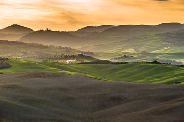 Beautiful image of the Tuscany countryside