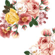 Bridal background with beautiful roses