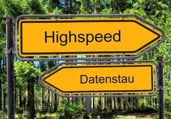 Strassenschild 41 - Highspeed
