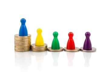 Income inequality distribution