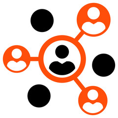 Social connections icon