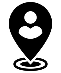 User on map icon