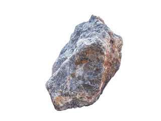 big granite rock stone, isolated
